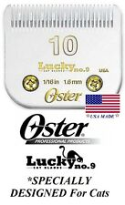 Oster Lucky No 9 Feline 10 Blade CAT Grooming*Fit A5/A6,Most Wahl,Andis Clipper