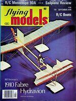 Vintage Flying Models Magazine September 1976 1910 Fabre Hydravion m325