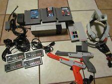 Nintendo Entertainment System Console NES BUNDLE GUNS LASERSCOPE SATELLITE GAMES