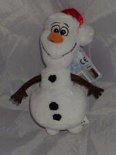 "NEW Disney Frozen Olaf in Christmas Hat Small Soft Toy Plush toy 8"" Olaf Xmas"