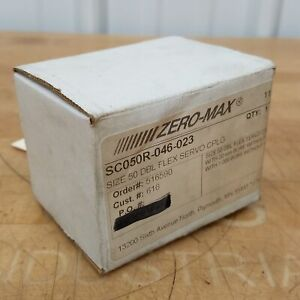 "Zero-Max SC050R-046-023 Double Flex Servo Coupling, 1"" x 20mm Bore - NEW"