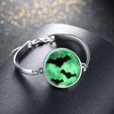 Hot Fashion Women's Luminous Haloween Crow Bracelets Bangle Jewelry for Party