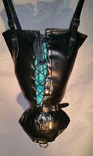 Armbinder negro con corsé Cordones, inmovilizador, un solo guante, brazo Binder, Abdl, Reino Unido