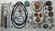 Mixed Lot Old Antique - Vintage - Modern Jewellery Spares Repairs Parts Crafts