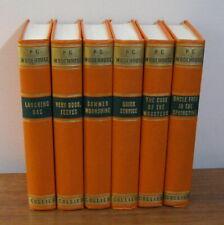 Set of 6 Vintage P.G. Wodehouse Hardbound Books Very Good Jeeves 1930's Collier