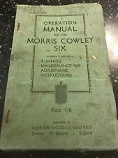 ORIGINAL 1934 MORRIS COWLEY SIX 6 SERVICE OPERATION REPAIR MANUAL