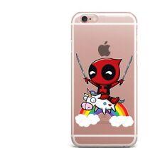 Deadpool Superhero Soft TPU Cover Case iPhone 5 6 7 Plus Huawei Samsung