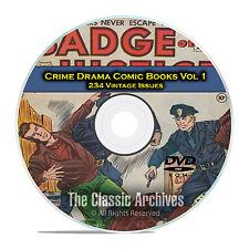 Crime Drama, Suspense, Vol 1, Badge of Justice, Cop, Golden Age Comics DVD D74