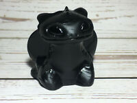 "A+++ 2.5"" Natural Obsidian Dragon Quartz Crystal Carved Skull Reiki Healing 1pc"