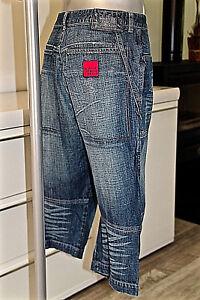 joli pantacourt en jeans mixte M&F GIRBAUD taille 40 fr 46i us 32 excellent état