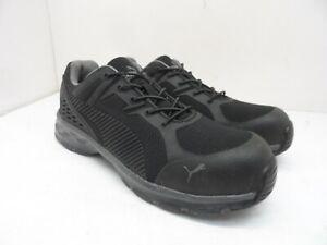 Puma Men's Low Safety-Toe Athletic Work Shoes Black/Black Size 9M