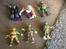 "TMNT Figure Bundle With Sounds Viacom 2012 6"" Figures"