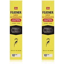 Feather Hi-Stainless Double Edge Razor Platinum Coated Blades – Pack Of 400pcs