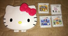 3DS Hello Kitty 2011 Game Case Nintendo with 4 3DS Games Super Mario Bros. 2
