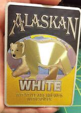 Alaska Magnet - Alaskan White WIT style Ale Foil Polar Bear Magnet - Nice!