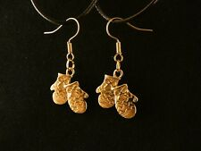 Handschuhe Ohrringe 24 Karat Vergoldet Winter Warm Paar Charm Gold Hänger