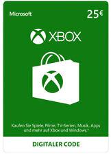 Xbox Live 25 euros card Microsoft-MS 25 € haberes Xbox 360 Xbox One código Key