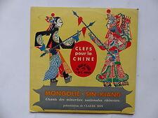 Clefs pour la Chine Mongolie Sin Kiang CLAUDE ROY LDY 4039