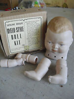 Vintage 1970s Bisque Shackman Bye Lo Style Baby Boy Doll Kit NIB
