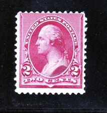 US 219D 2c Washington Mint Fine OG H SCV $160