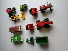 Mixed LOT of Diecast Farm Tractor Toys - John Deere, Case, Cat, TootsieToy Truck