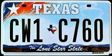 """TEXAS """" LONE STAR STATE - MAP """" DISCONTINUED """" TX Graphic License Plate"""