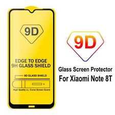 Protector de Pantalla Cristal Templado 9D para Xiaomi Redmi Note 8T Marco Negro