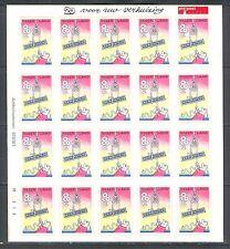 """Moving Stamp"" On Netherlands 1997 Scott 951 Sheet Of 20 Self-Adhesives, Mnh"