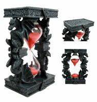 "Ebros Celtic Four Dragon Elemental Pillars Trinity Sandtimer Sands of Time 6""H"