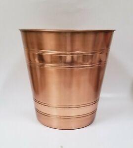 NEW COPPER,ROSE GOLD METAL BRUSHED+SHINY TRASH CAN,WASTE BASKET