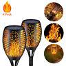 4x Solar Torch Light 33LED Waterproof Dancing Flickering Flame Garden Path Lamp