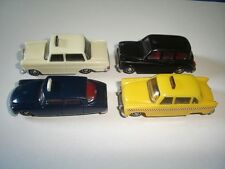 CLASSIC CABS TAXIS MODEL CARS SET 1:87 H0 - KINDER SURPRISE PLASTIC MINIATURES
