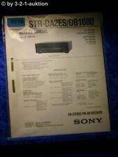 Sony Service Manual STR DA2ES /DB1080 FM/AM Receiver (#5218)