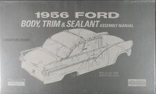 1956 Ford Auto Corpo e Interno Assemblaggio Manuale 56 Sedili Windows Trim