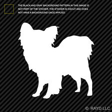 (2x) Papillon Sticker Die Cut Decal Self Adhesive Vinyl dog canine pet