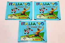 Panini WM WC ITALIA 90 1990 3 x TÜTE PACKET BUSTINA SOBRE Vers. EUROPA STICKMAN