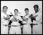 Jackie Robinson Reese Stanky Jorgensen Photo 8X10  Brooklyn Dodgers 1947 Ebbets
