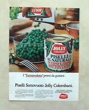 D797 - Advertising Pubblicità - 1980 - JOLLY COLOMBANI PISELLI SOTTOVUOTO