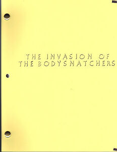 THE INVASION OF THE BODYSNATCHERS movie script (1977)