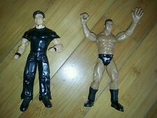 Lot of 2 wwe wwf wrestlers- 99' the rock, 03' Bischof Action Figures Toys