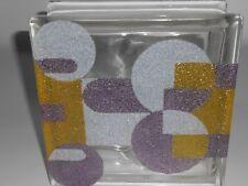 Vetro mattone, vetrocemento,mattone in vetro decorato cm. 19X19X8