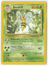 Pokemon Base Set Unlimited Beedrill  - 17/102 - non holo Rare Excellent cond.
