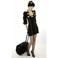 Women Trolley Dolly Costume Air Stewardess Hostess Cabin Crew Fancy Dress UK 6-8