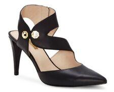 Louise et Cie Women's Shoes, Jara Leather Stiletto Pumps, Black  - Size 8M