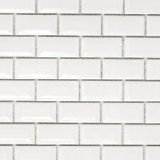 Mosaik Diamant Metro weiß Küche Bad WC Wand Fliesenspiegel Art:WB26-0102|1 Matte