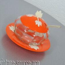 seltenes Glas für Marmelade Konfitüre Gelee Honig 4 tlg. mid Century 50er J. DRP