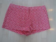 Candie's Juniors Patterned Red/White Flat Front Shorts With Pockets Size: 9 $38