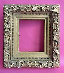 "Antique ""AS IS"" 19C Gesso Wood Frame Gold Rococo Baroque Leaf Scroll Portrait"