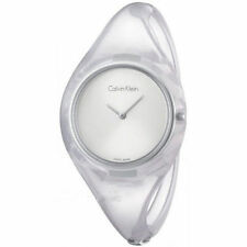 CK Donna Calvin Klein Orologio K4W2SXK6 Pure Semirigido Trasparente Resina Small