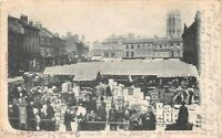 POSTCARD  YORKSHIRE - DONCASTER -  MARKET PLACE - CIRCA 1903